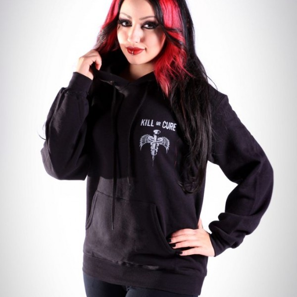 Kill or Cure Hoodie modelled by Dani Divine