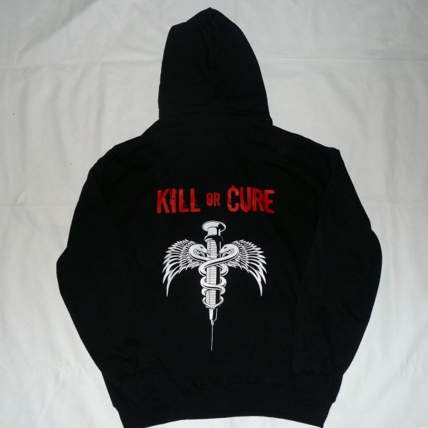 Kill or cure sweat hoodie back