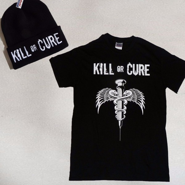 Kill or Cure Men's T-shirt hat combo